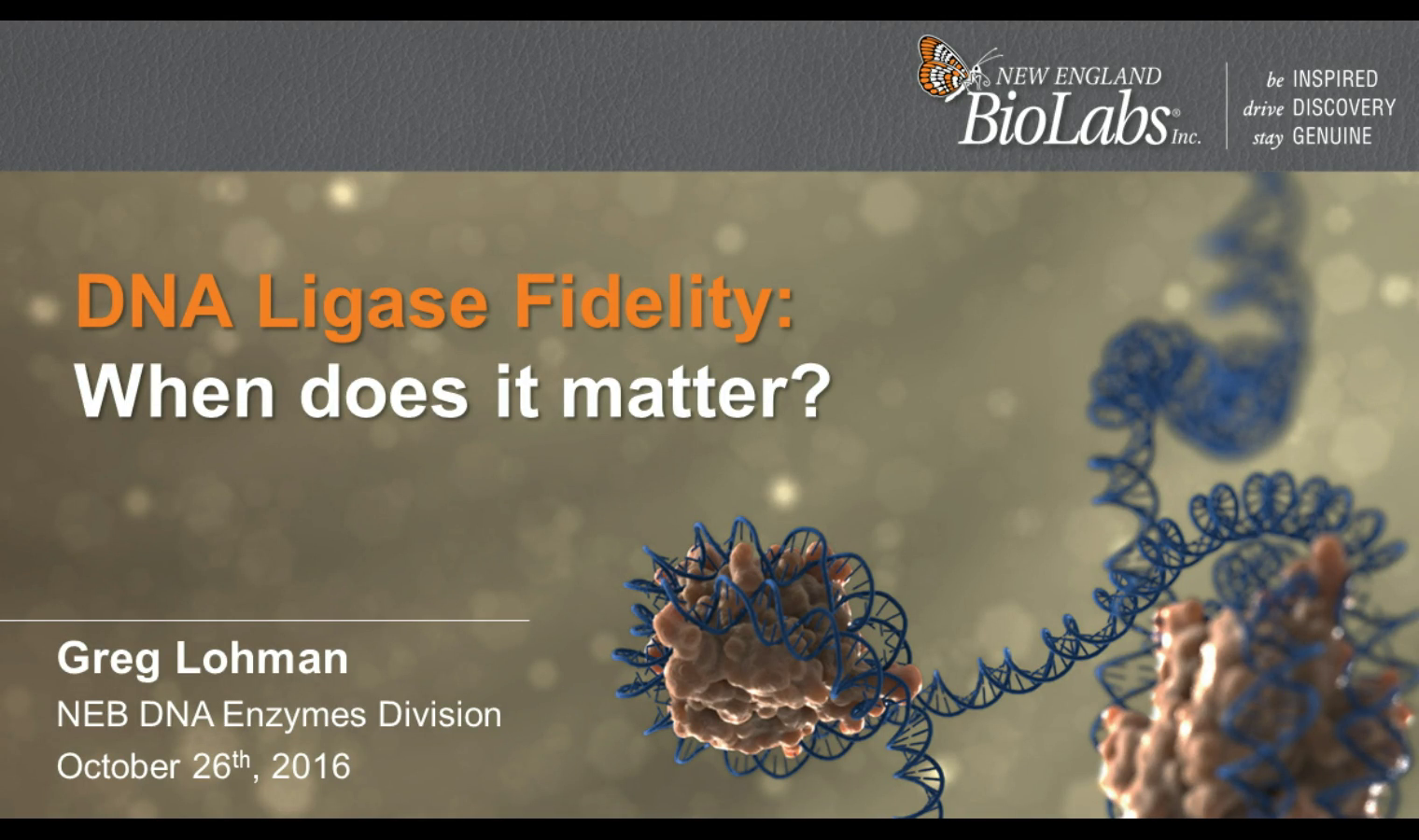 DNA Ligase Fidelity_When Does it Matter