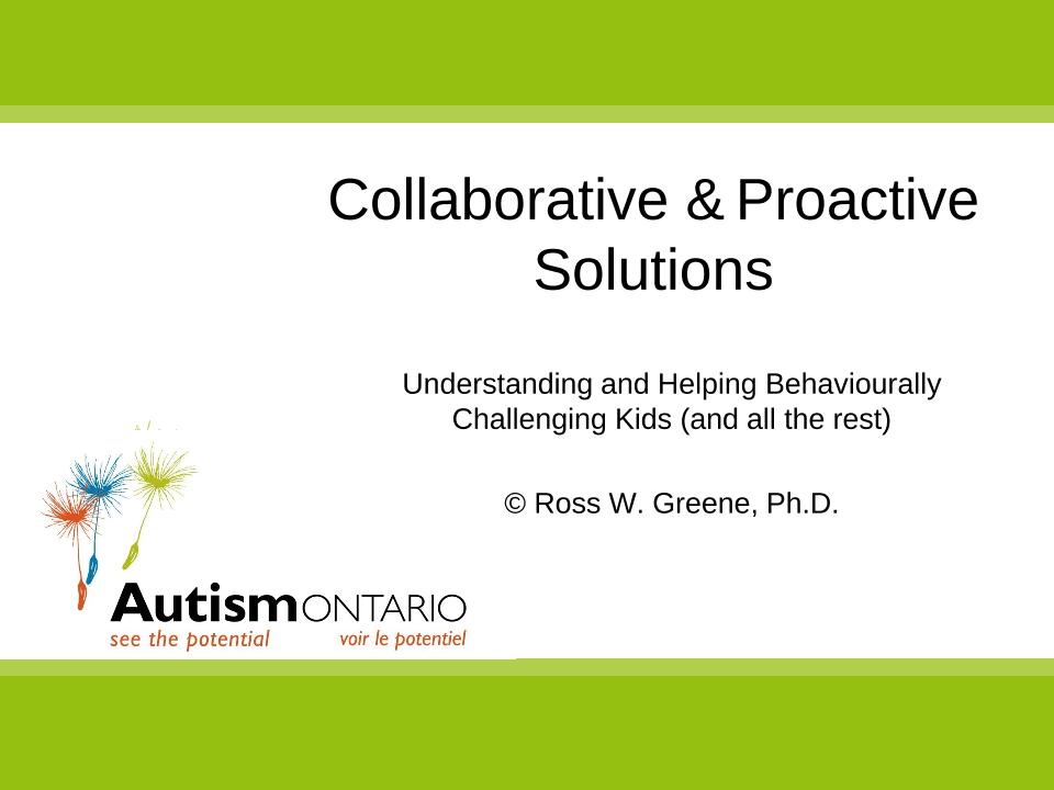 Understanding Challenging Behaviour - Slides