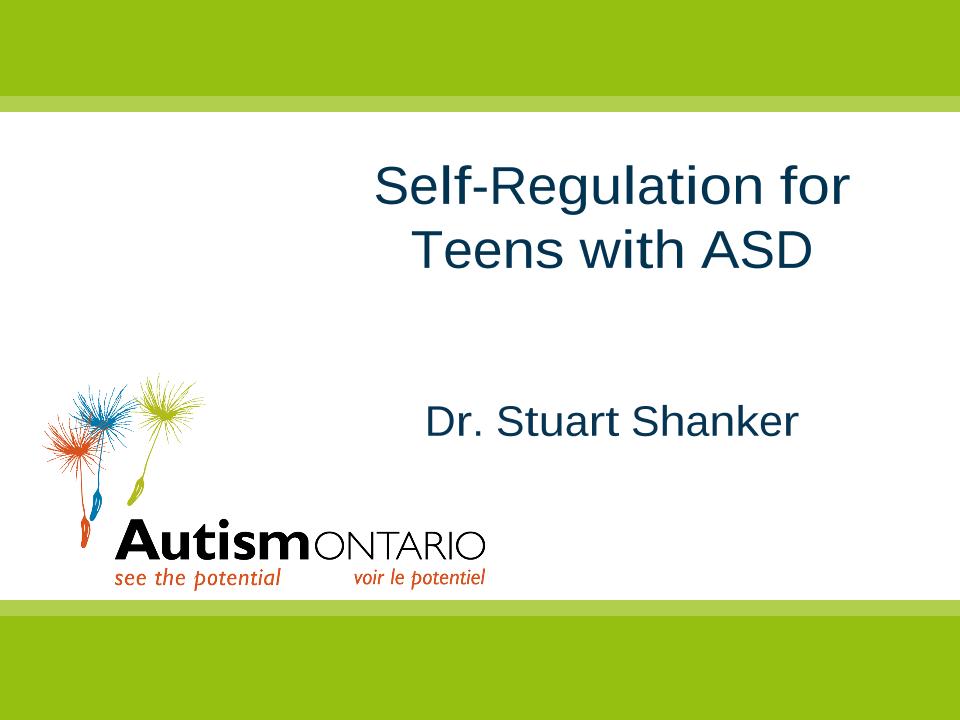 Self-Regulation and Wellbeing - Slides