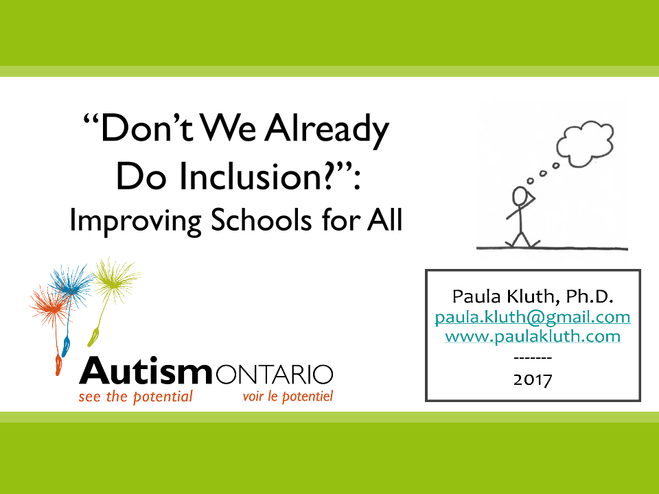 Don't We Already Do Inclusion? - Slides