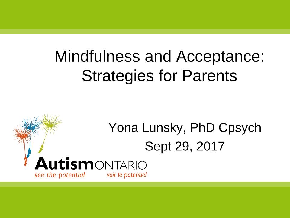 Mindfulness and Acceptance Strategies - Slides