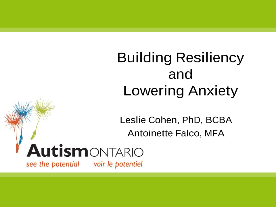Anxiety, Play, and ABA - Slides