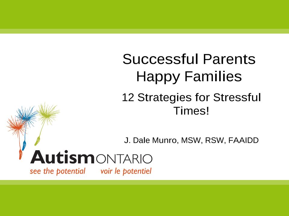 Sucessful Parents Happy Families - Slides