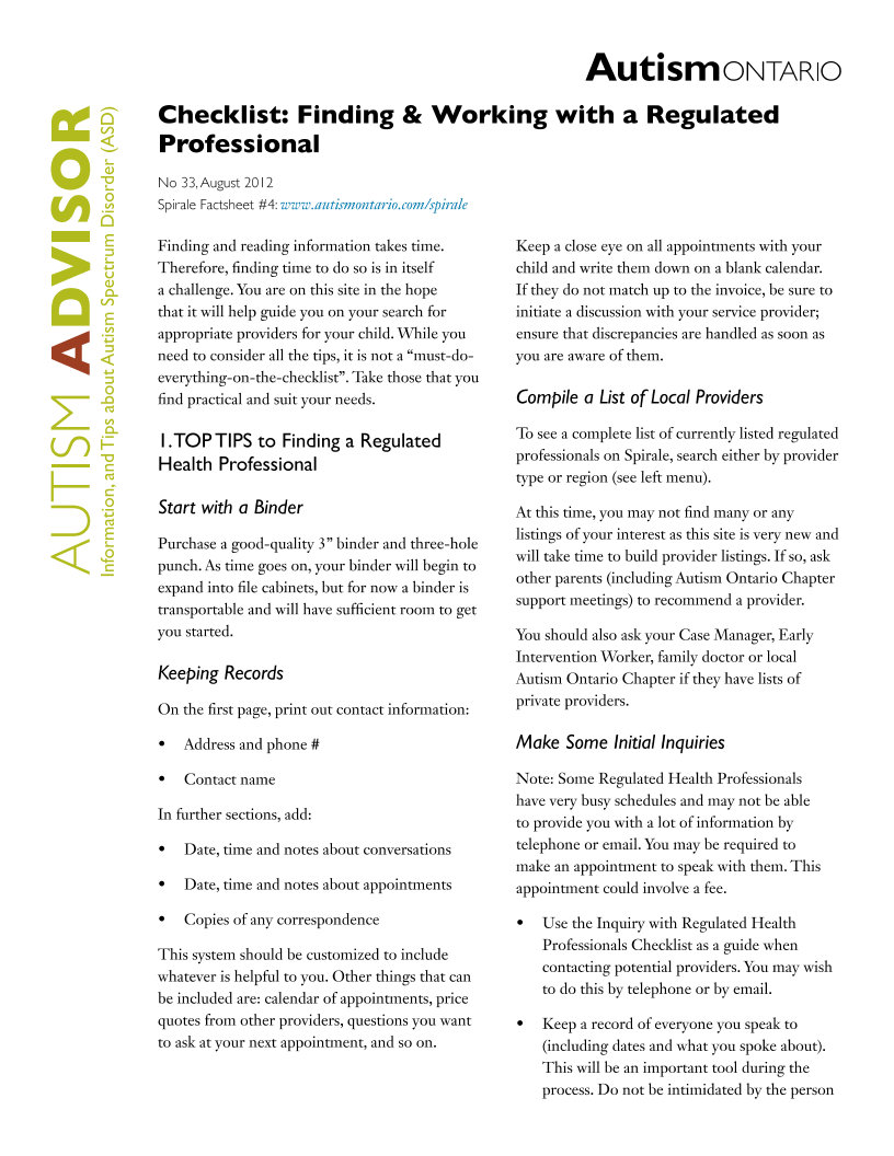 Finding and Working with Regulated Professionals