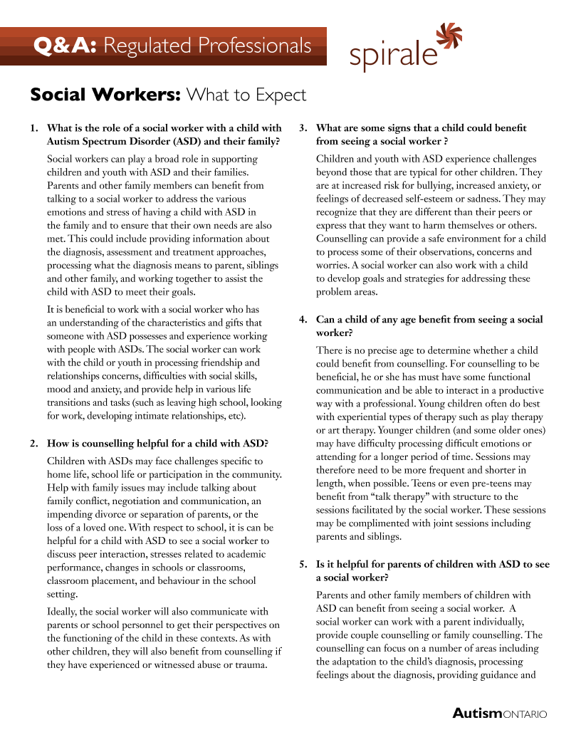 Social Workers - What to Expect