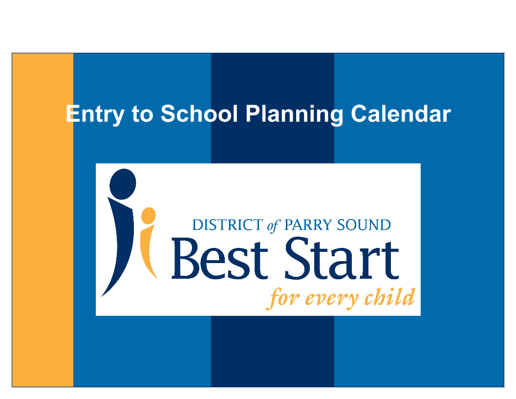 Transition to School - Planning Calendar
