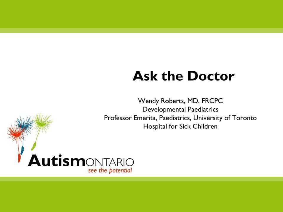 Ask the Doctor - Slides