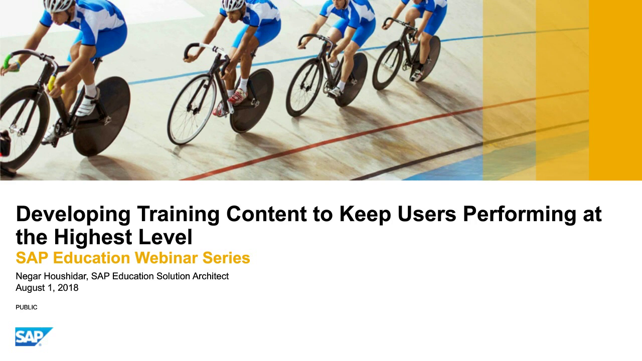 On Demand Webcast : Nurturing Your Team's Functional and Technical Expertise: Creating your blended approach to SAP learning