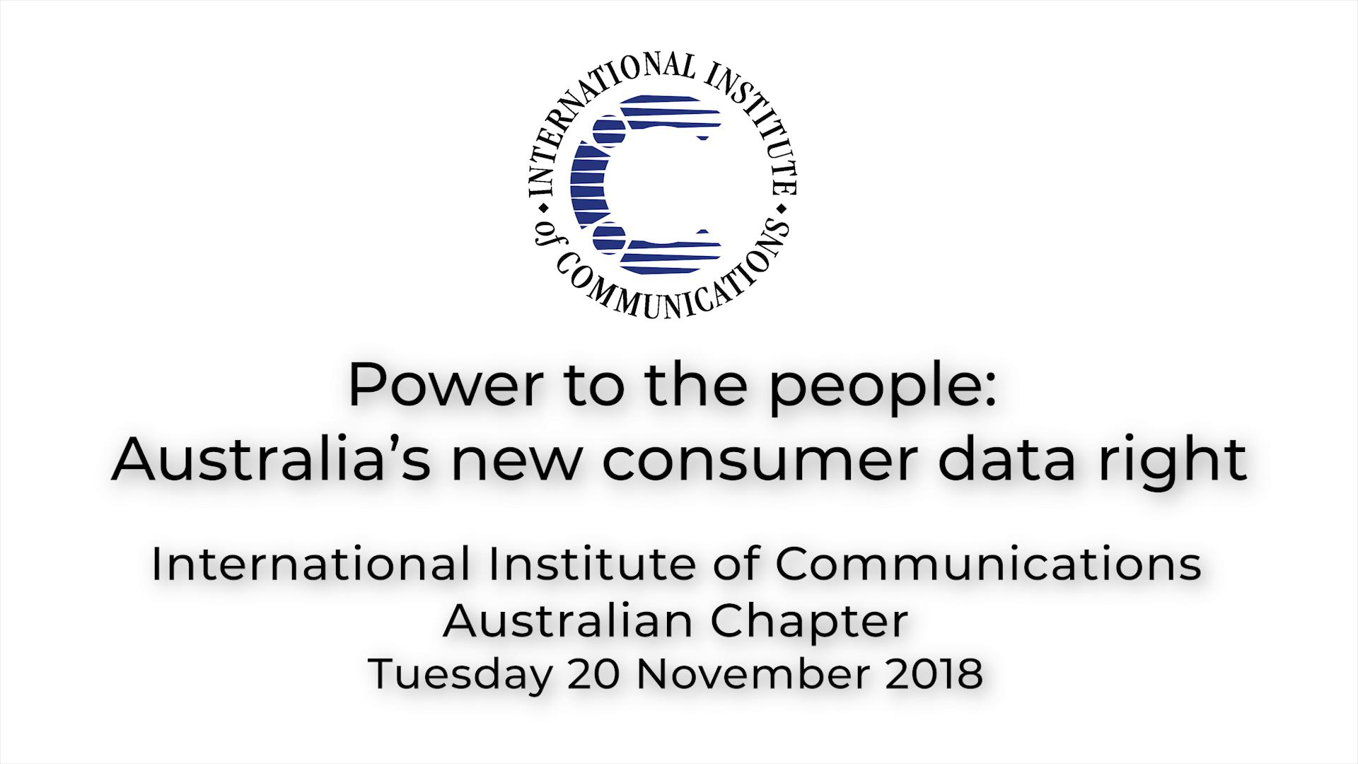 IIC Seminar - 20 November 2018