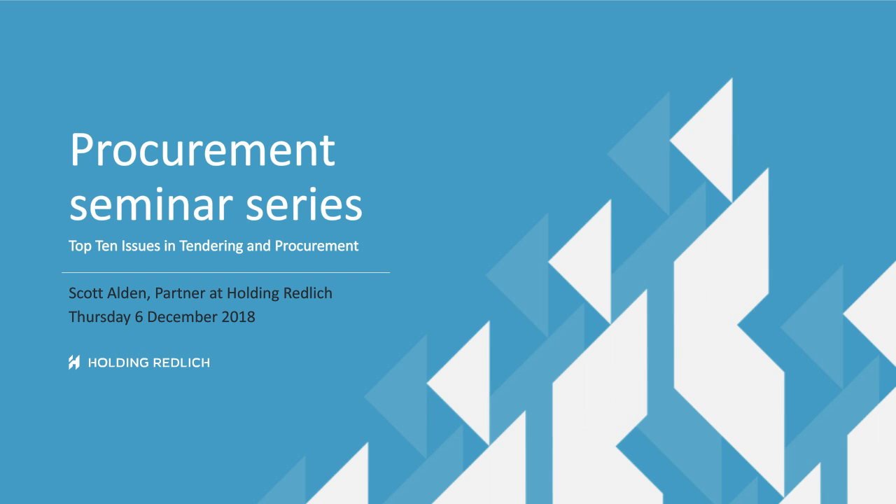 Top 10 issues in procurement