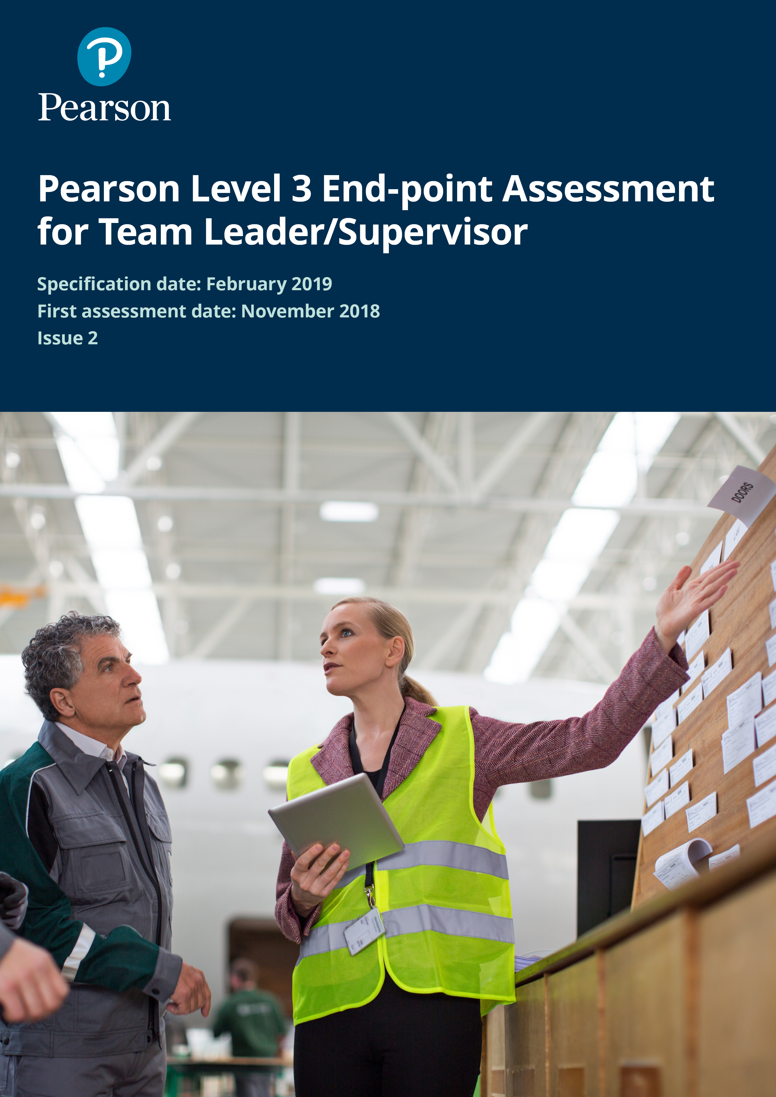 Pearson Apprenticeship EPA for Team Leader Supervisor Level 3 Specification Issue 2