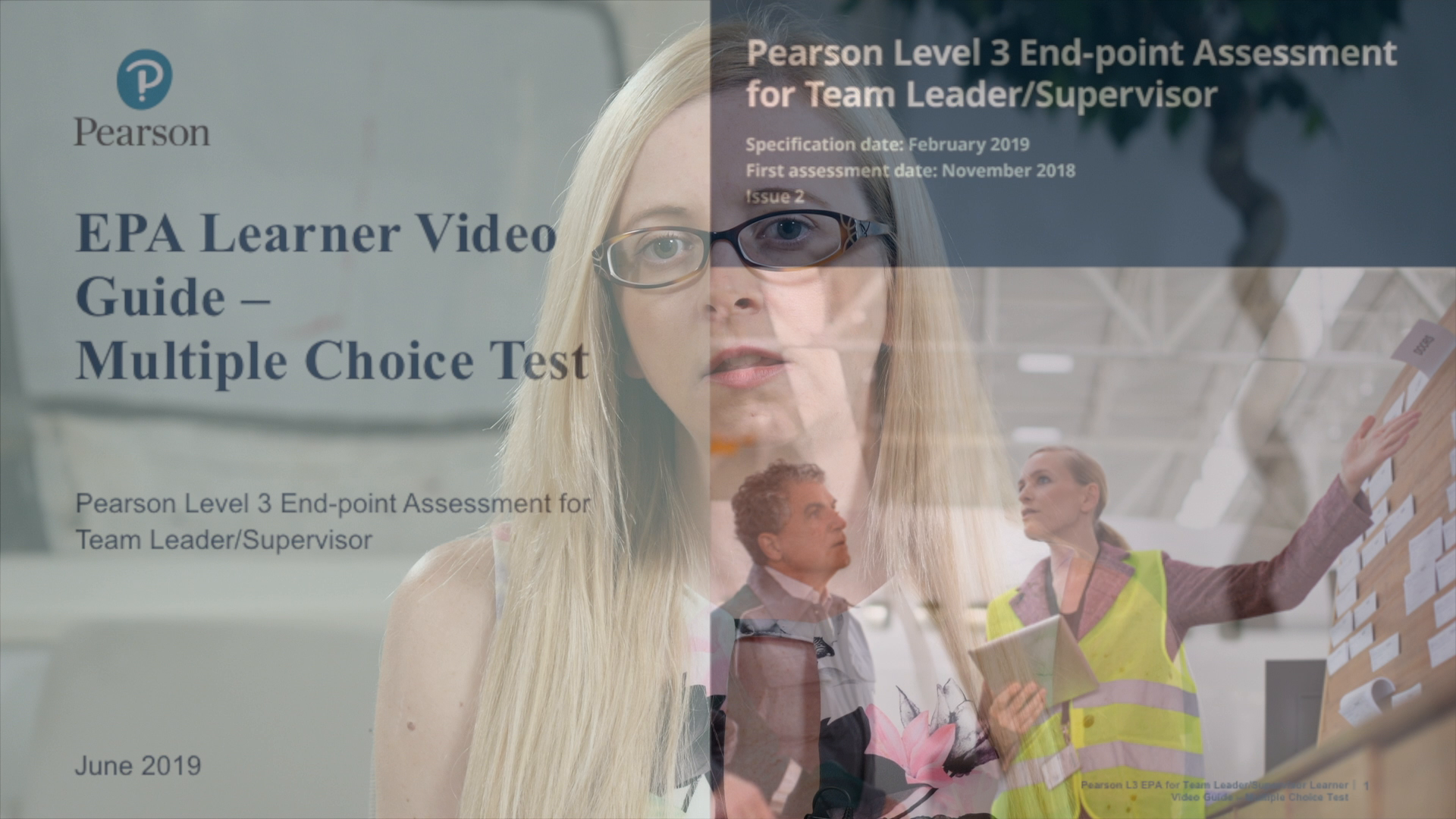 Pearson EPA Learner Video Guide: Team Leader - Multiple Choice Test
