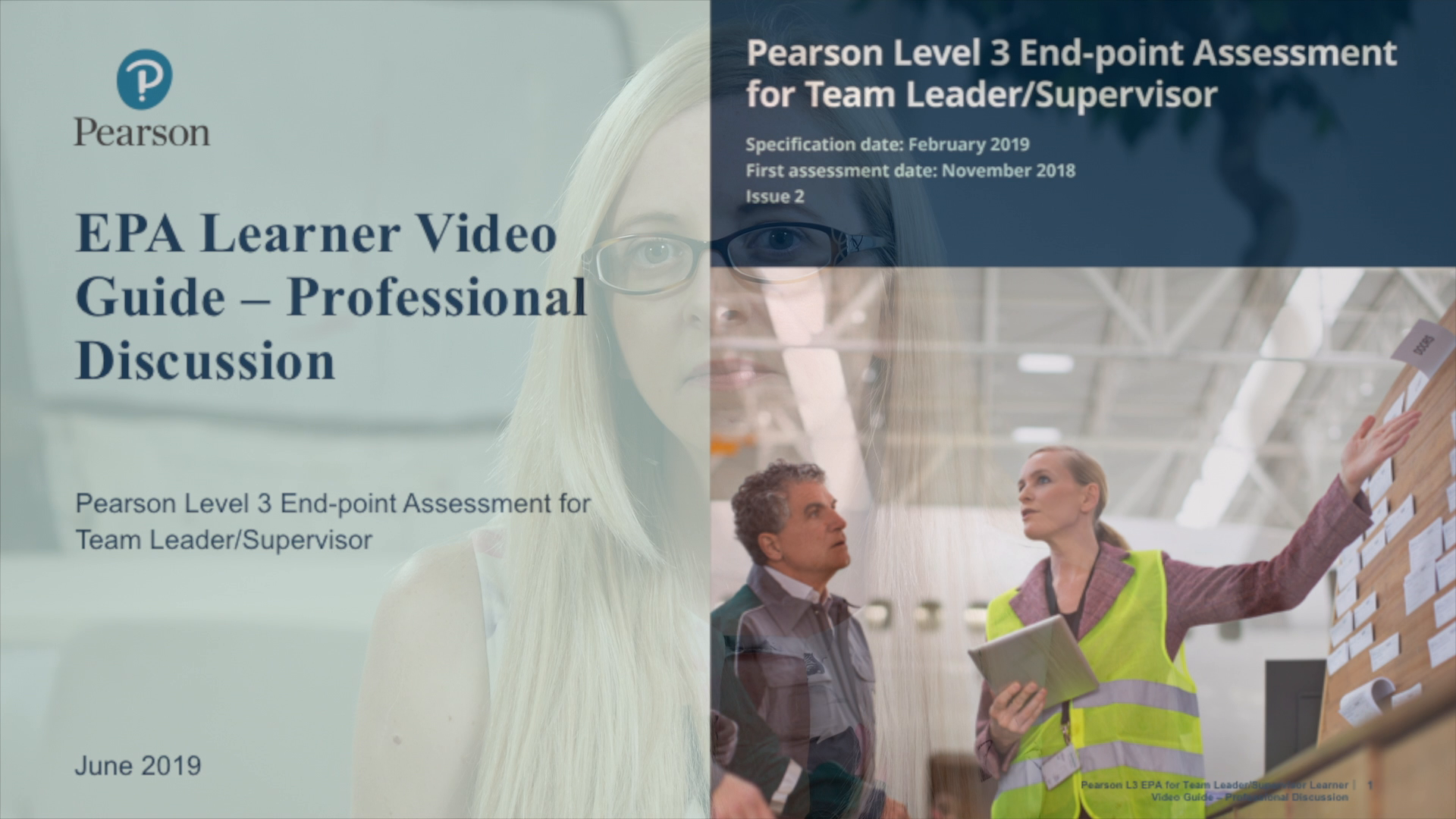 Pearson EPA Learner Video Guide: Team Leader - Professional Discussion