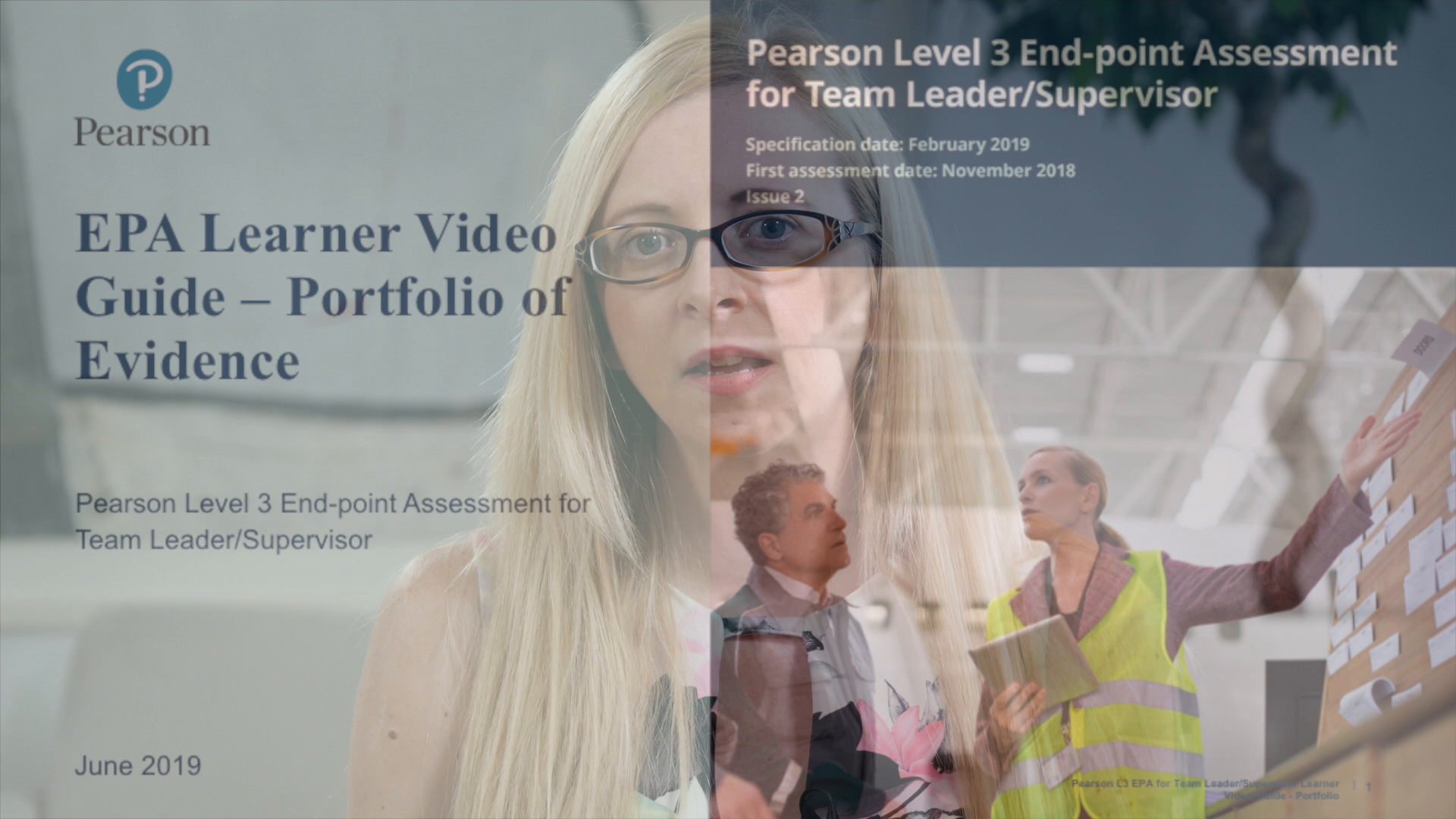Pearson EPA Learner Video Guide: Team Leader - Portfolio of Evidence