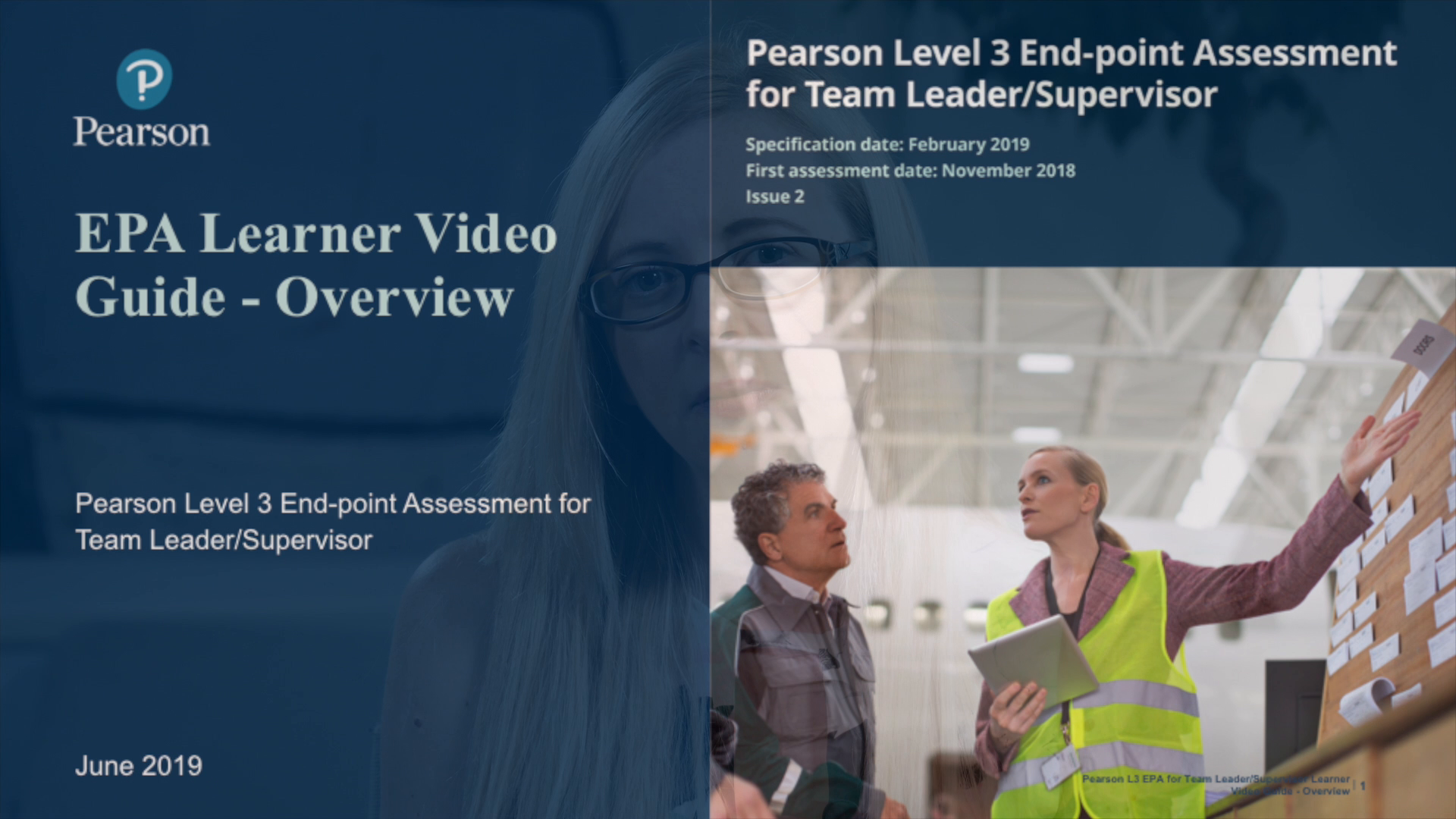 Pearson EPA Learner Video Guide: Team Leader - Overview