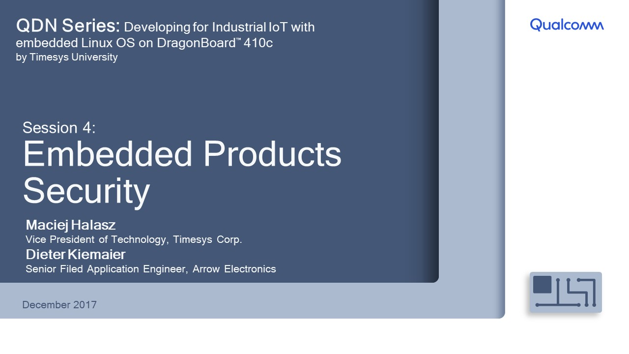 Presentation: Session 4 - Embedded products security