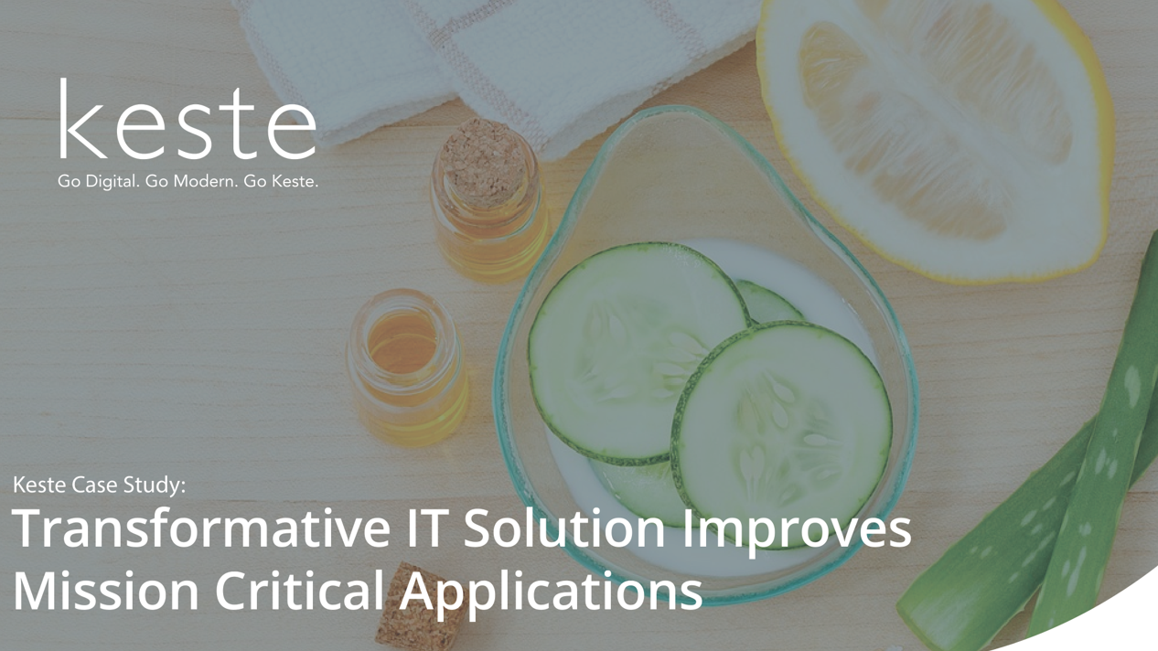 Case Study: Transformative IT Solution Improve Mission Critical Applications