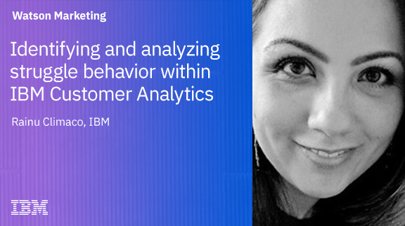 Identifying and analyzing struggle behavior within IBM Customer Analytics